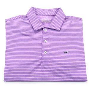 Vineyard Vines S Performance Polo Purple White